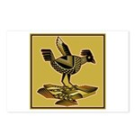 Mimbres Quail Ochre Postcards (Package of 8)