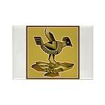 Mimbres Quail Ochre Rectangle Magnet (100 pack)