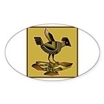 Mimbres Quail Ochre Sticker (Oval 10 pk)