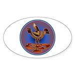 Mimbres Quail 3 Sticker (Oval 10 pk)