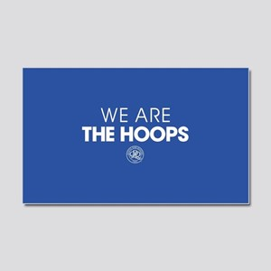 Queens Park We Are The Hoops Car Magnet 20 x 12