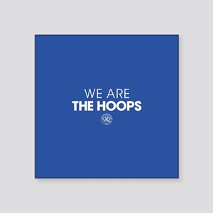 """Queens Park We Are The Hoop Square Sticker 3"""" x 3"""""""