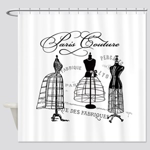 B&W Vintage Style Paris Couture Dressforms Shower