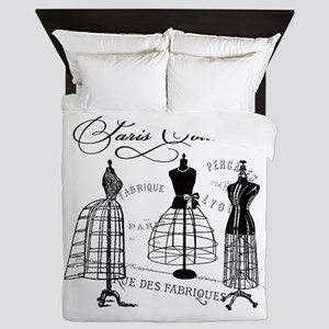 B&W Vintage Style Paris Couture Dressforms Queen D