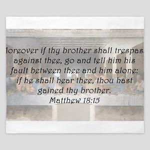 Matthew 18:15 King Duvet