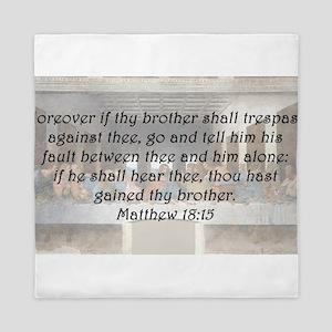 Matthew 18:15 Queen Duvet