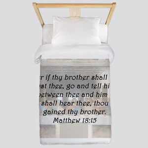Matthew 18:15 Twin Duvet