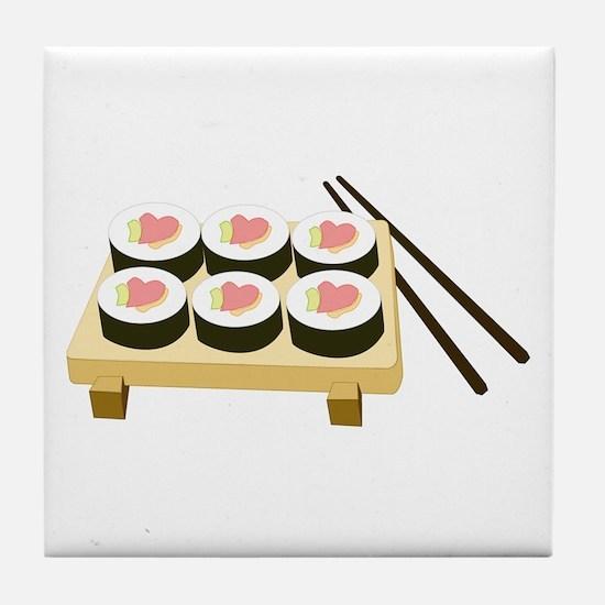 Sushi Love Tile Coaster