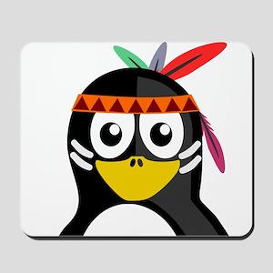 Native American Penguin Mousepad