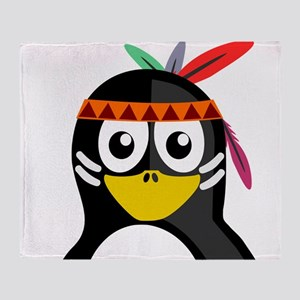 Native American Penguin Throw Blanket