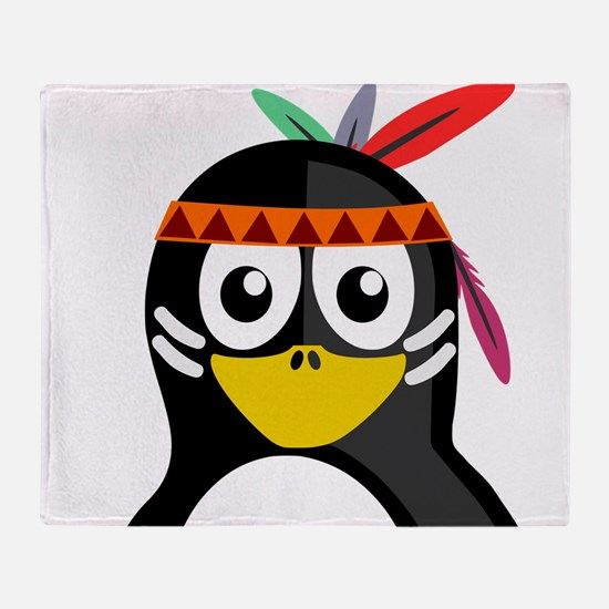 Native American Penguin Throw Blanket