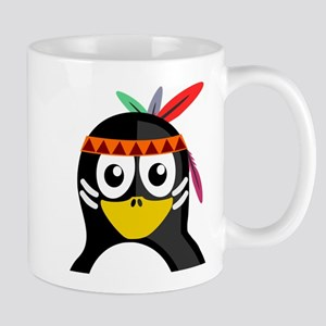 Native American Penguin Small Mug