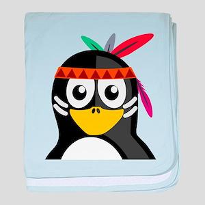 Native American Penguin baby blanket
