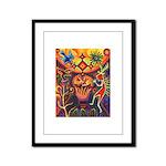 Shaman Red Deer 1 Framed Panel Print