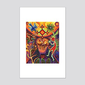 Shaman Red Deer 1 Mini Poster Print