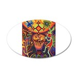 Shaman Red Deer 1 20x12 Oval Wall Decal