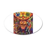 Shaman Red Deer 1 35x21 Oval Wall Decal