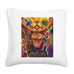 Shaman Red Deer 1 Square Canvas Pillow