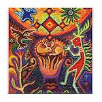 Shaman Red Deer 1 Tile Coaster