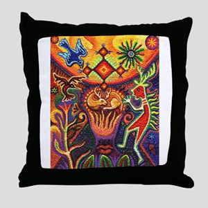 Shaman Red Deer 1 Throw Pillow