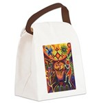 Shaman Red Deer 1 Canvas Lunch Bag