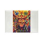 Shaman Red Deer 1 Rectangle Magnet (100 pack)