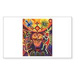 Shaman Red Deer 1 Sticker (Rectangle 10 pk)