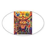 Shaman Red Deer 1 Sticker (Oval 10 pk)