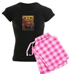 Shaman Red Deer 1 Women's Dark Pajamas