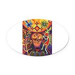 Shaman Red Deer 1 Oval Car Magnet