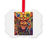 Shaman Red Deer 1 Picture Ornament