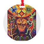 Shaman Red Deer 1 Round Ornament