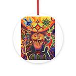 Shaman Red Deer 1 Ornament (Round)