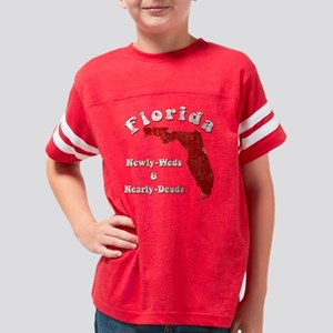 Florida1 black tee Youth Football Shirt