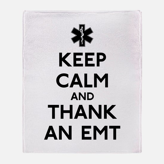 Thank An EMT Throw Blanket