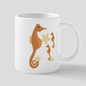 Brown Sea Horses Mug