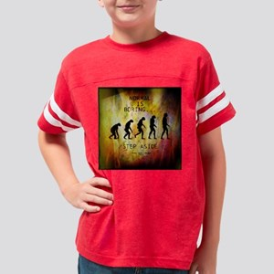 Cloth Napkins Normal is Borin Youth Football Shirt