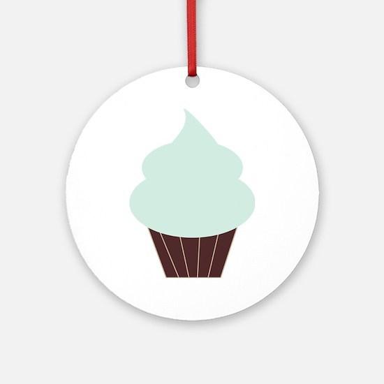 Cute Cupcake Ornament (Round)