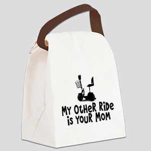 Scooter - Other Ride is Your Mom Canvas Lunch Bag