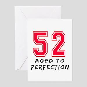 52 Year birthday designs Greeting Card