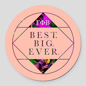 Gamma Phi Beta Best Big Round Car Magnet
