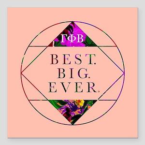 """Gamma Phi Beta Best Big Square Car Magnet 3"""" x 3"""""""