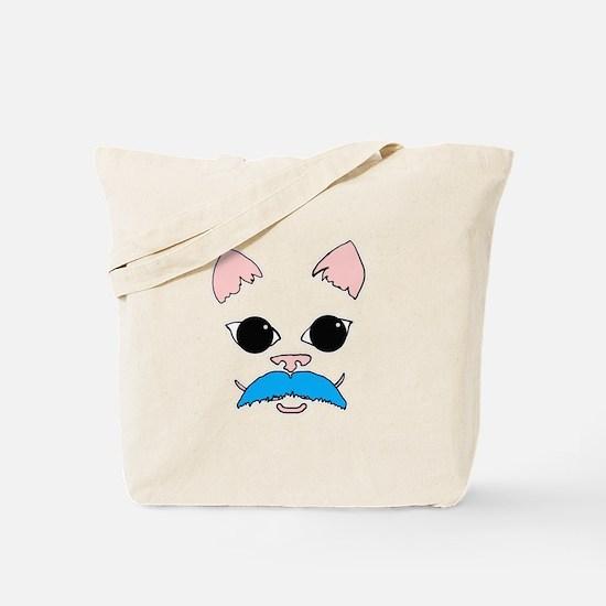 Mustache cat Tote Bag