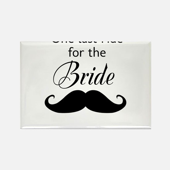 ONE LAST RIDE FOR THE BRIDE Rectangle Magnet (10 p