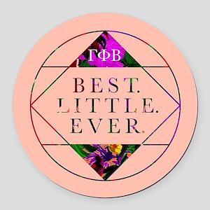Gamma Phi Beta Best Little Round Car Magnet