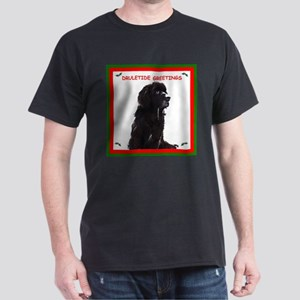 Newfy Drool Holiday dRuletide Greetings Dark T-Shi