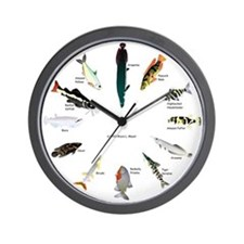 12 Amazon fish clock Wall Clock