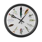 12 Amazon fish clock Large Wall Clock