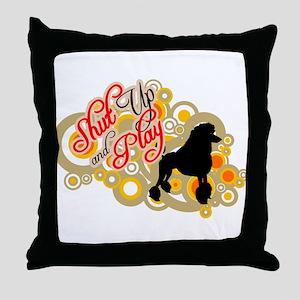 Poodle Standard Throw Pillow