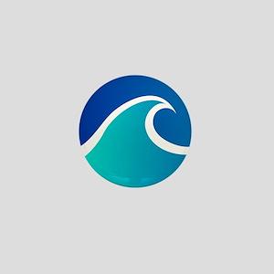 Wave - Summer - Travel Mini Button